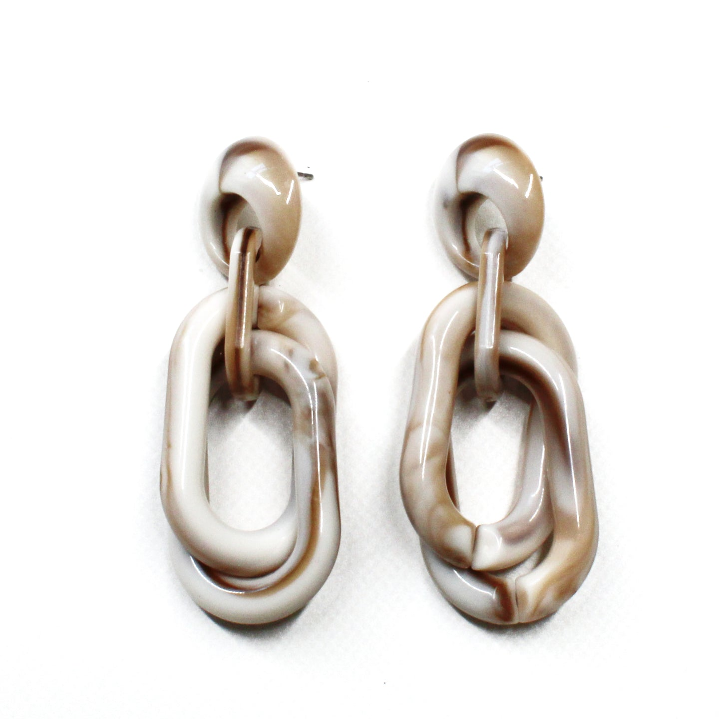 Intertwine Marbled Resin Earring