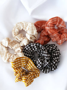 Gingham Scrunchies (4 colours)