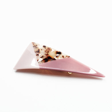 Jelly Resin Barrette - Marbled Pink