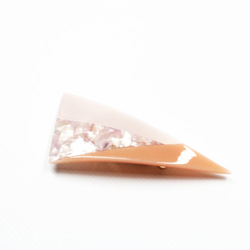 Jelly Resin Barrette - Marbled Orange