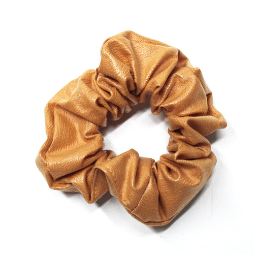 Leatherette Scrunchie - Mustard