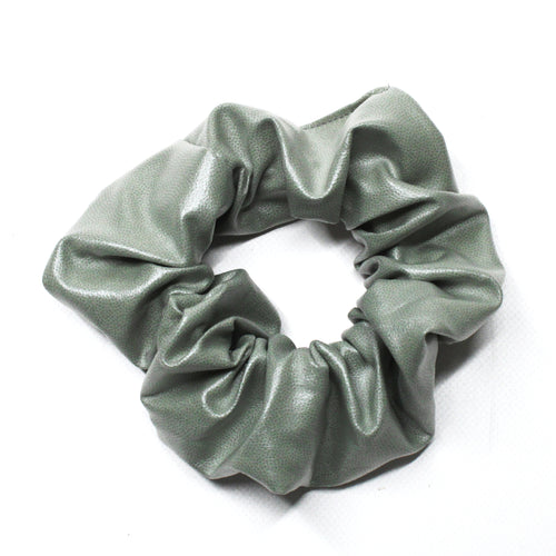Leatherette Scrunchie - Sage