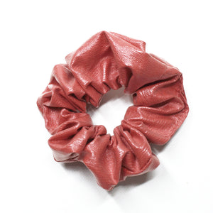 Leatherette Scrunchie - Pink