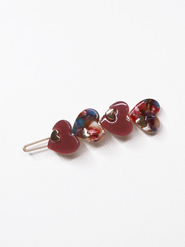 Little Hearts Hair Barrette Red - 1 Piece