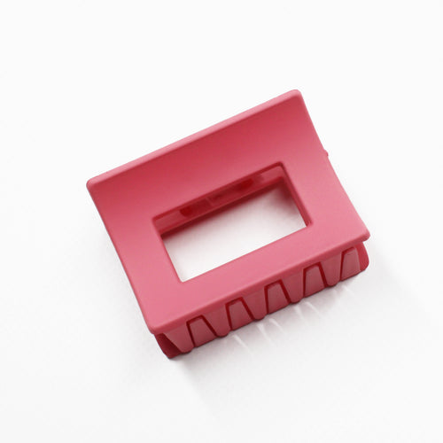 Matte About You Large Rectangular Claw - Pink