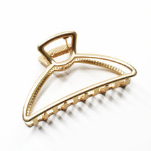 Load image into Gallery viewer, Matte Gold Triangle Statement Clip