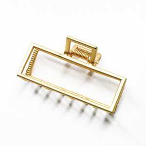 Matte Gold Rectangle Statement Clip
