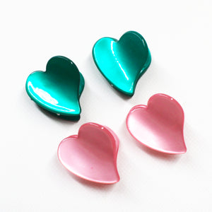 Heart Mini Clips - 1 Pair (Two Colours)