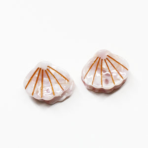 Luxe Shell Mini Claw  - Blush