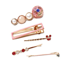 Load image into Gallery viewer, Pink Glamour 5-Piece Clip Set