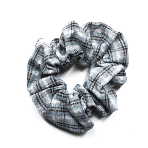 Pretty in Plaid Scrunchie - Blue
