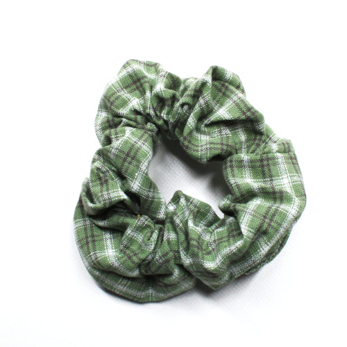 Pretty in Plaid Scrunchie - Green