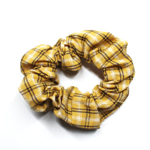 Pretty in Plaid Scrunchie - Yellow