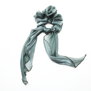 Luna Ribbon Waterfall Scrunchie - Sage