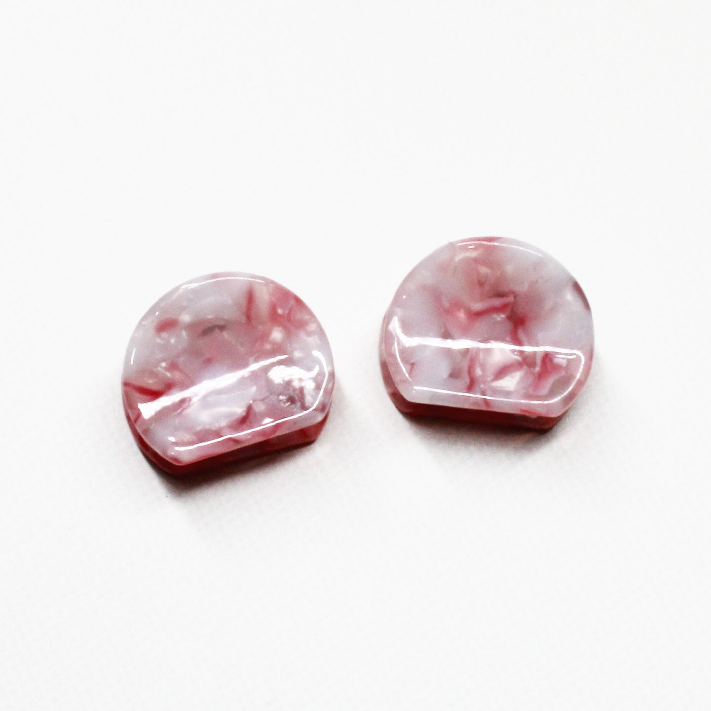 Marbled Rose Mini Claw - 1 Pair