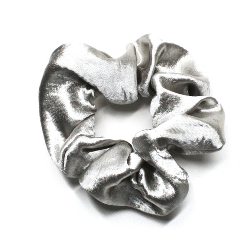 Oh So Satin Scruchies - Silver