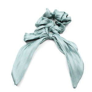 Valencia Ribbon Scrunchie - Baby Blue