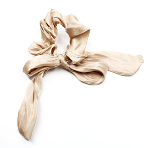 Valencia Ribbon Scrunchie - Pale Neutral