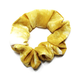 Tie Dye Small Scrunchies - Yellow