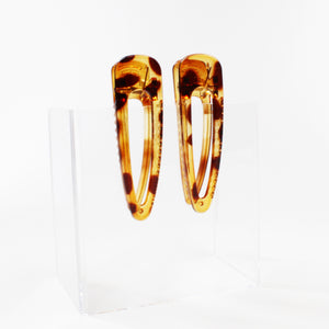 Perspex Tortoise Shell Clip - 1 Pair