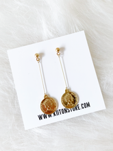 Load image into Gallery viewer, Vintage Penny Long Earring