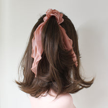 Load image into Gallery viewer, Luna Ribbon Waterfall Scrunchie - Blush
