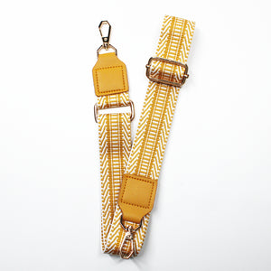 Weave Fabric Bag Belt - Mustard