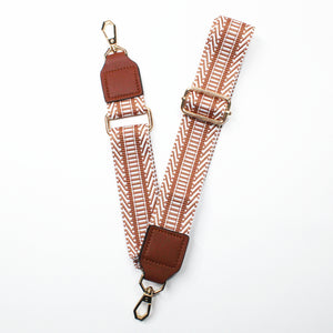 Weave Fabric Bag Belt - Tan