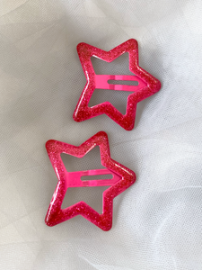 You Are A Star Hair Clips - 1 Pair (Choose from 3 colours)
