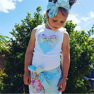 Floral Summers Heart Outfit Set