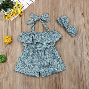 In-Fashion Comfy Play-suit + Band (0 - 12 M)