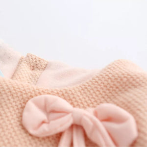Stylish Dress with Knitted Wool Sweater for Baby Girls (0-18 M)