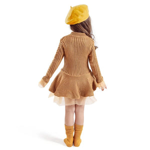 Vibrant Knitted Sweater Mini-Frock (1 - 5 Y)