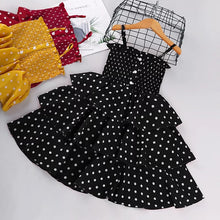 Load image into Gallery viewer, Dotted Frilly Sling Frock - Size Range: 2 to 9 Years