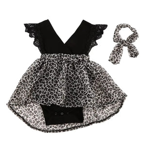 Leopard Printed Pageant Frock (3 M - 5 Y)