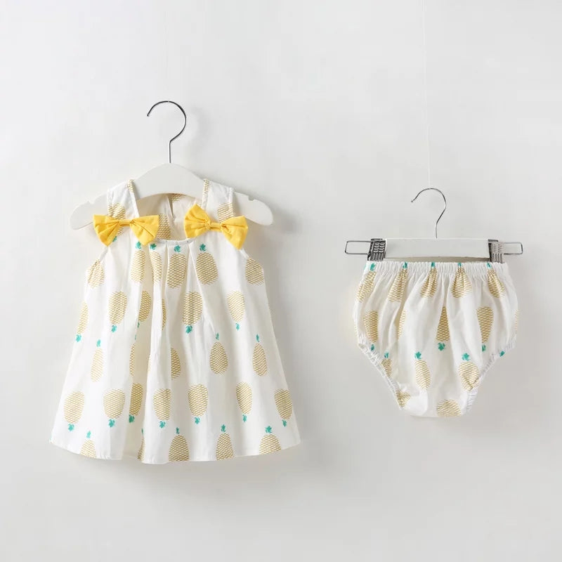 Summer Sleeveless Cotton 2 Piece Dress (3 - 18 M)