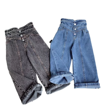 Load image into Gallery viewer, High Waist Wild Wide Jeans - Size Range: 2 to 9 Years