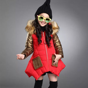 Fur Hooded Frock Styled Jacket (18M - 8Y)