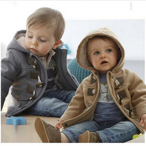 Warm Faux Leather Fleece Coat (9M - 4Y)