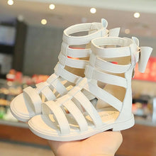 Load image into Gallery viewer, Fashion Bow Roman High Tube Sandals - Size Range: Inner Sole - 14 to 19.3 cm