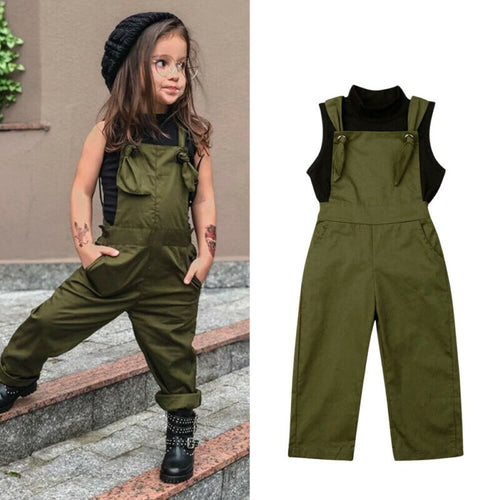 Super Trendy Overall & Top Set