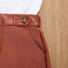 Load image into Gallery viewer, Age Range: 9m-4y - Leather Skirt + Stylish Top