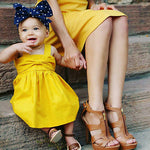 Bowknot Beautiful Baby Girls Dresses (0-15 M) - GoFancy