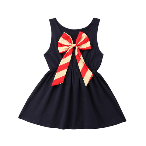 Hot Casual Bow Celebrity Dress (3 - 24 M)