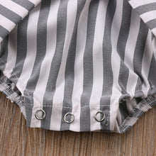Load image into Gallery viewer, Adorable Bow Romper with Neat Stripes  (0 - 12 M)