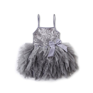 The Princess Fluffy Sequined Frock (9 M - 5 Y)