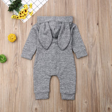 Load image into Gallery viewer, Long Eared Hooded Romper Jumpsuit (6 - 24 M)