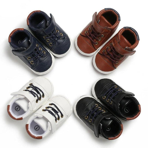 Trendy Leather Crib Shoes