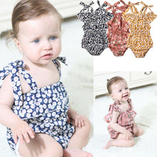 Load image into Gallery viewer, Double Shoulder Knot Romper (0 - 12 M)