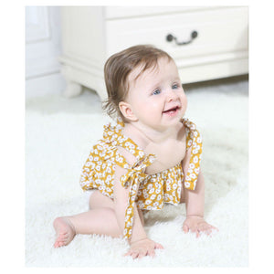 Double Shoulder Knot Romper (0 - 12 M)